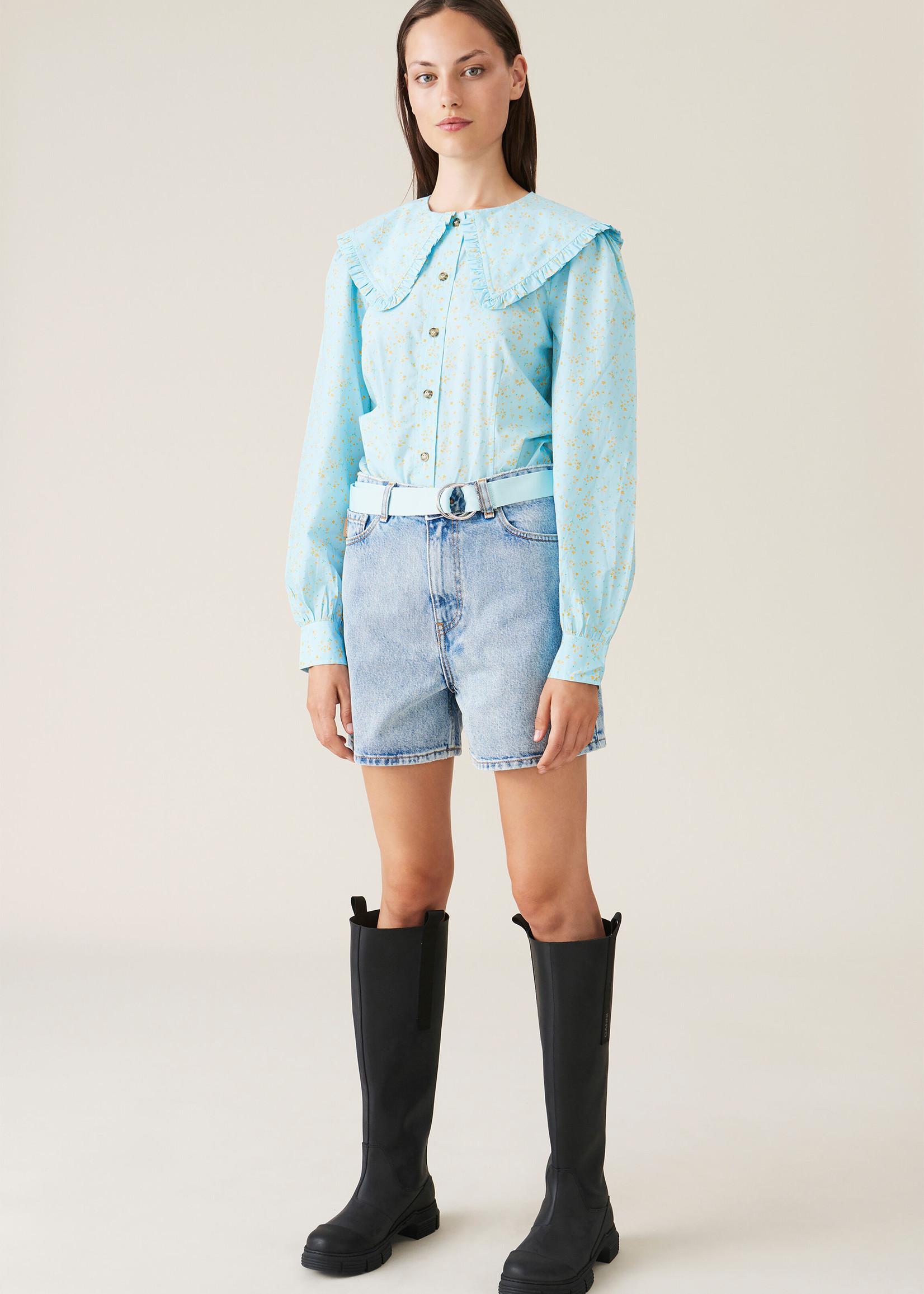 GANNI High Waist Denim Shorts
