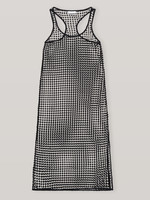 GANNI GANNI Grid Lace Swim Cover Up