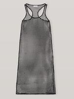 GANNI Grid Lace Swim Cover Up