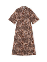 GANNI GANNI Poplin Maxi Dress in Fossil Floral