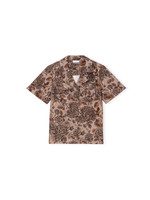 GANNI GANNI Floral Camp Shirt in Fossil