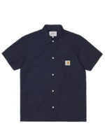 Carhartt Work In Progress Creek Multi-Pocket Shirt in Navy