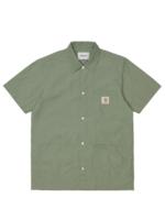 Carhartt Work In Progress Creek Multi-Pocket Shirt in Dollar Green