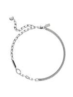 Lady Grey Collage Necklace in Silver