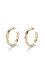 Lady Grey Braided Hoops in Gold