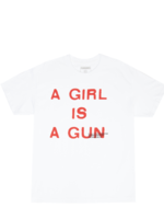 PLEASURES A Girl is a Gun T-shirt in White