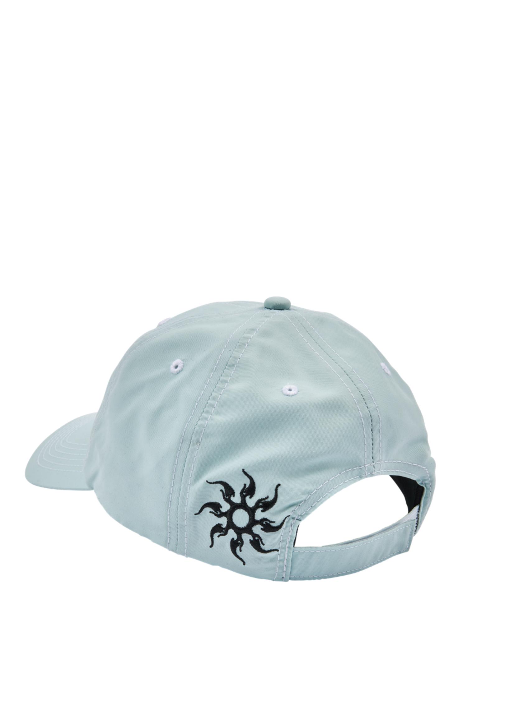 PLEASURES Destiny Nylon Polo Cap in Light Blue