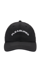 PLEASURES Destiny Nylon Polo Cap in Black
