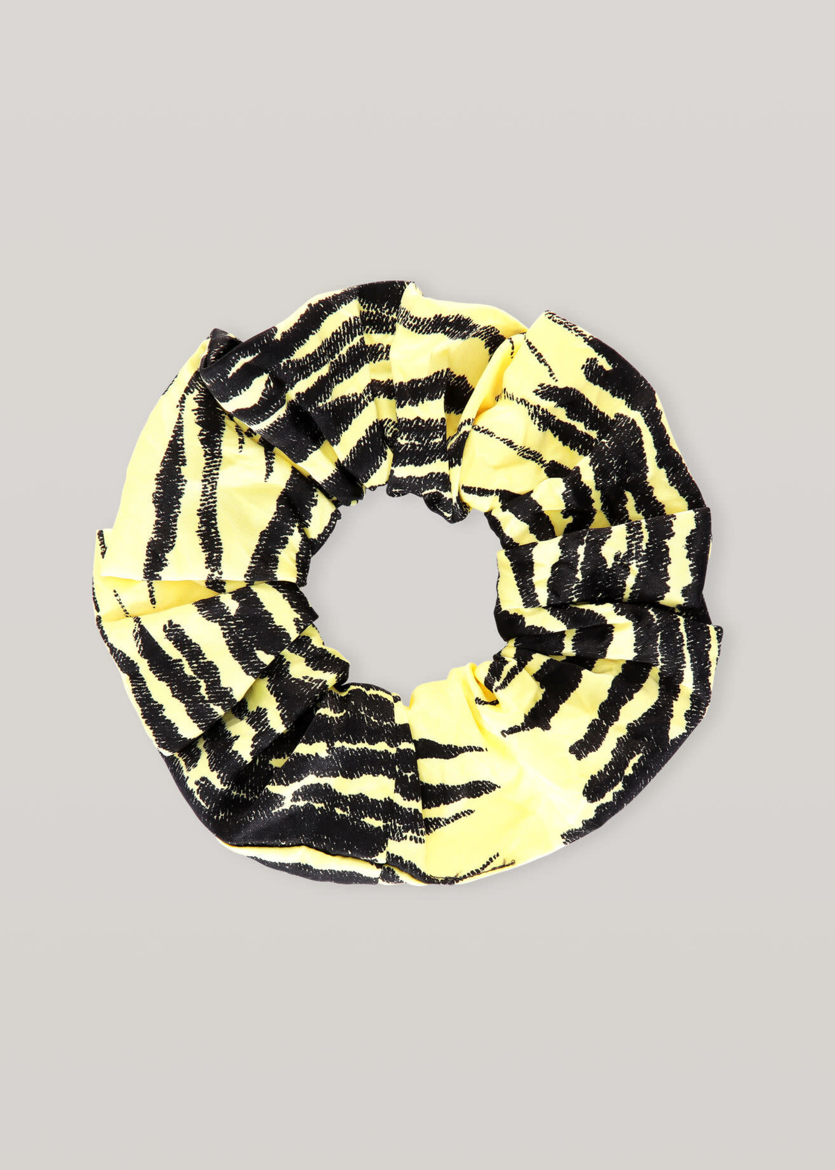 GANNI Scrunchie in Pale Yellow Print