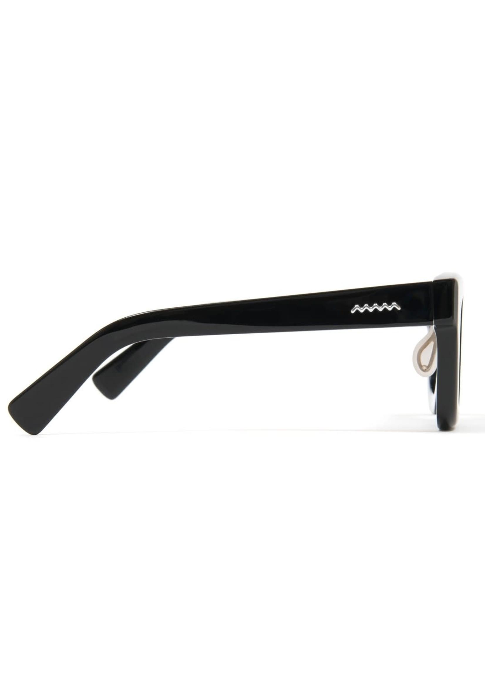 Brain Dead Elia Sunglasses in Black / Black