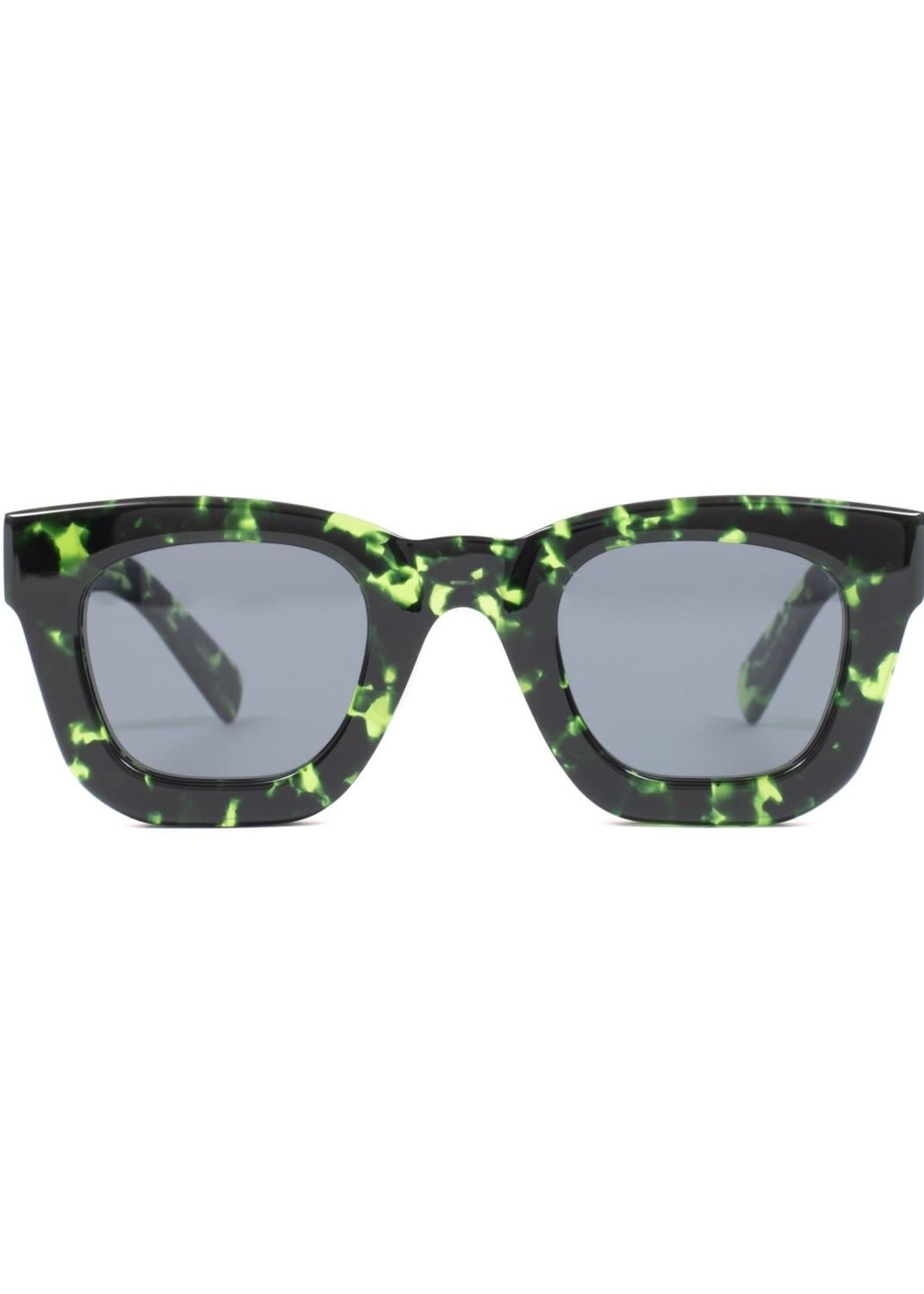 Brain Dead Elia Sunglasses in Green Tortoise / Black