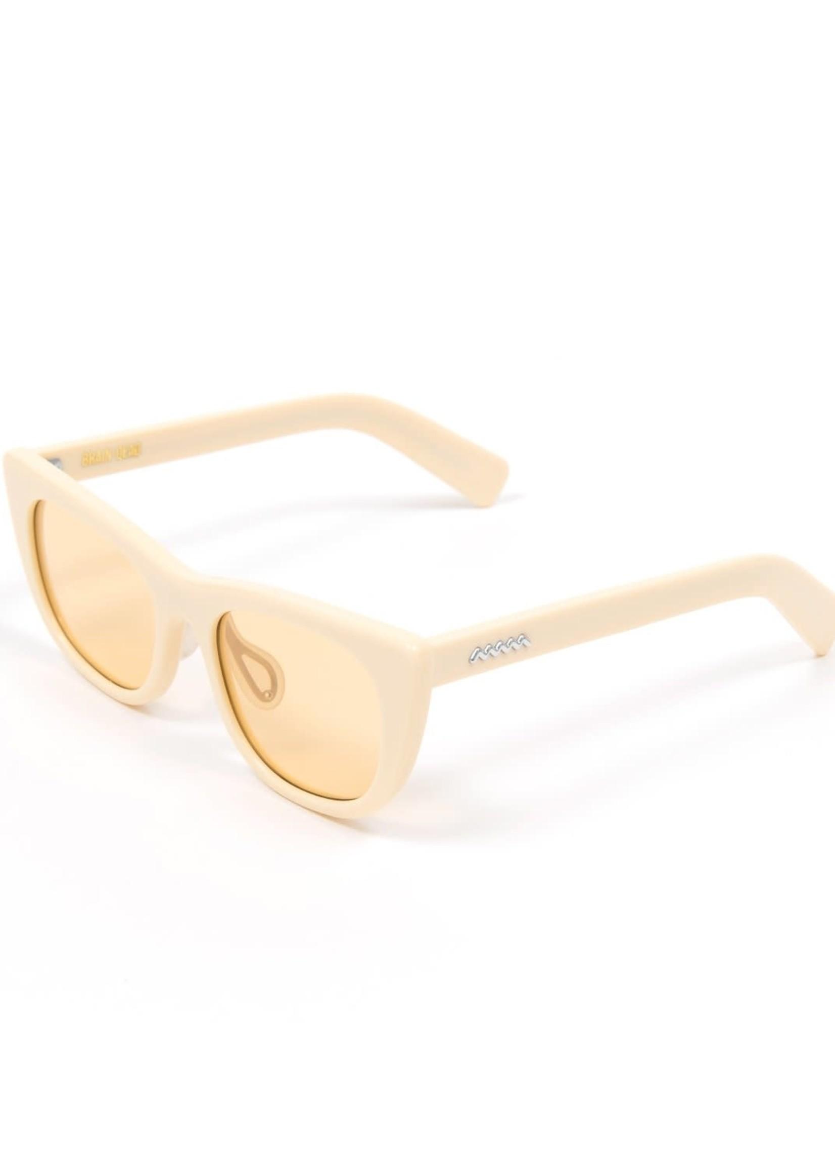 Brain Dead Natto Sunglasses in White / Beige