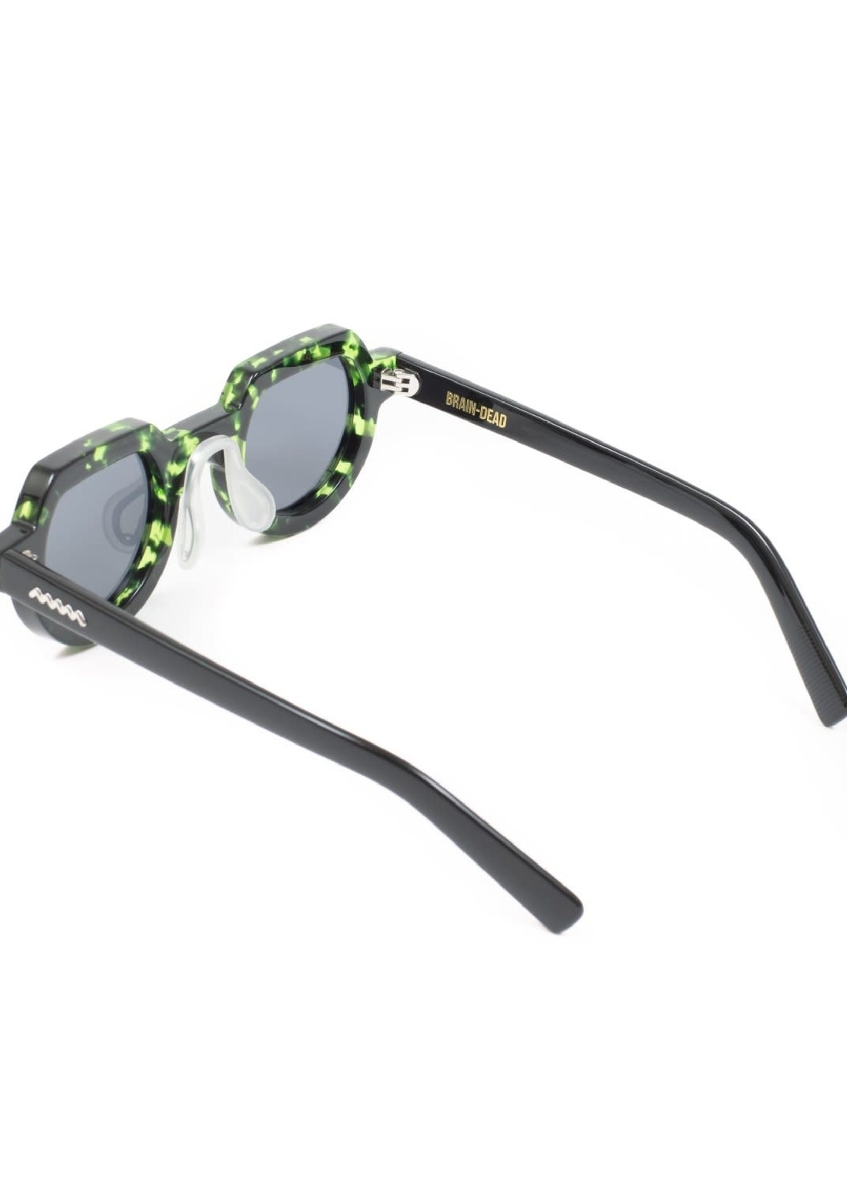 Brain Dead Tani Sunglasses in Green Tortoise / Black
