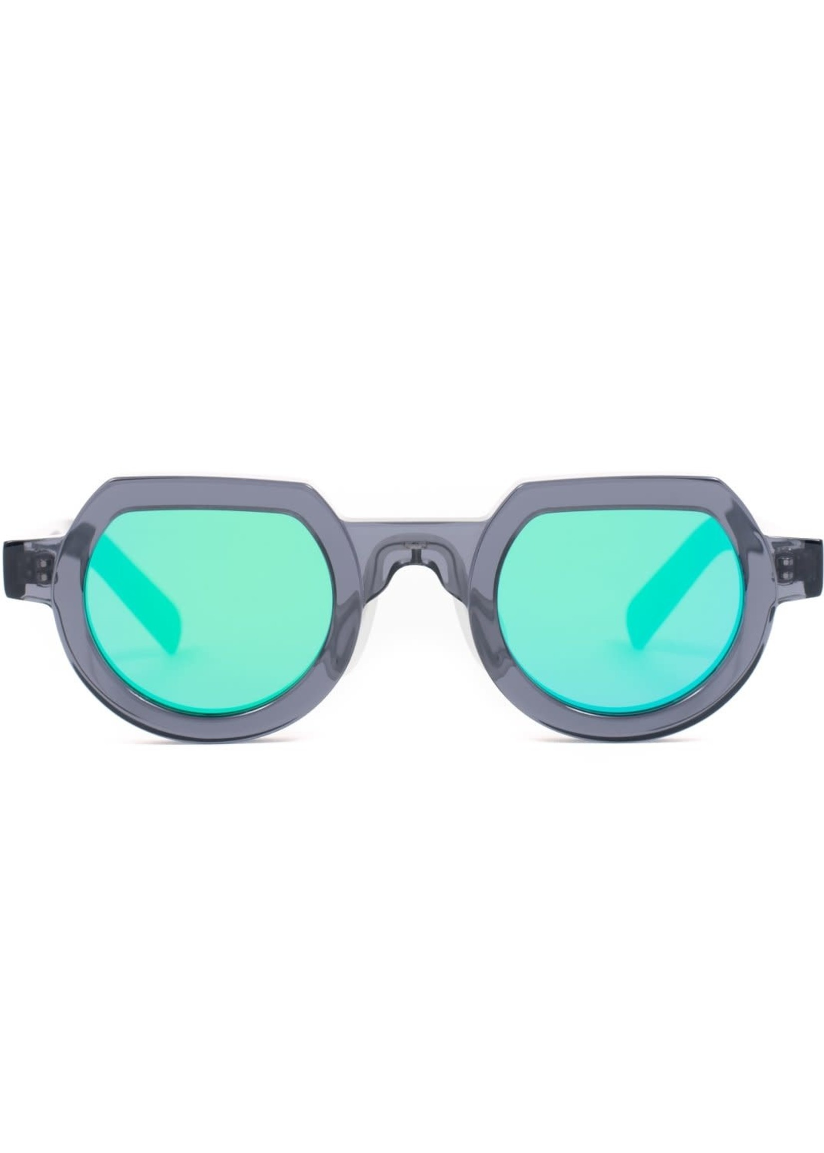 Brain Dead Tani Sunglasses in Smoke / Blue Reflective