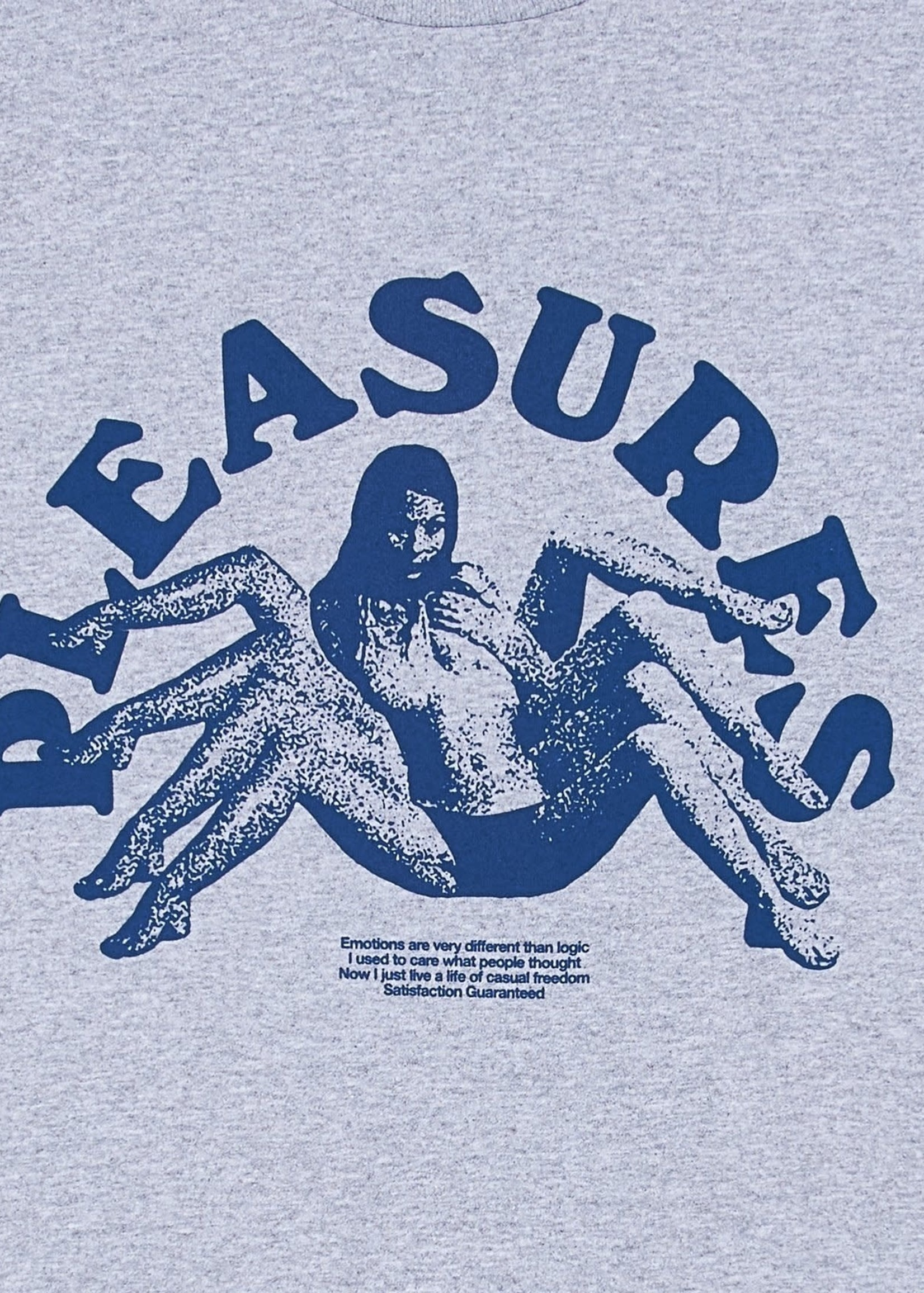 PLEASURES Logic T-shirt in Heather Grey
