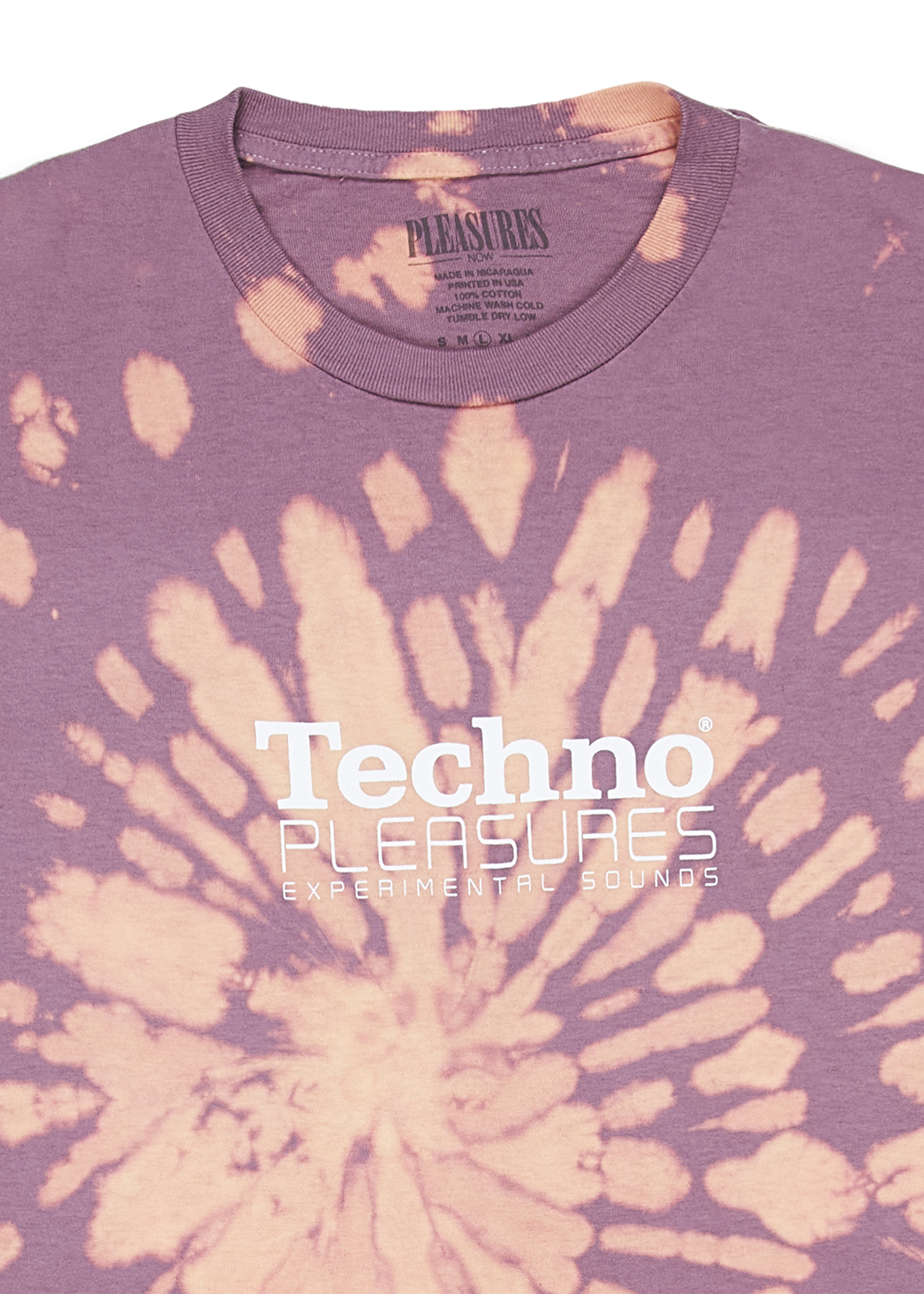 PLEASURES Techno Tie Dyed T-shirt in Orange