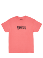 PLEASURES Party Logo T-shirt  in Coral