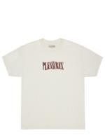 PLEASURES Party Logo T-shirt in Cream