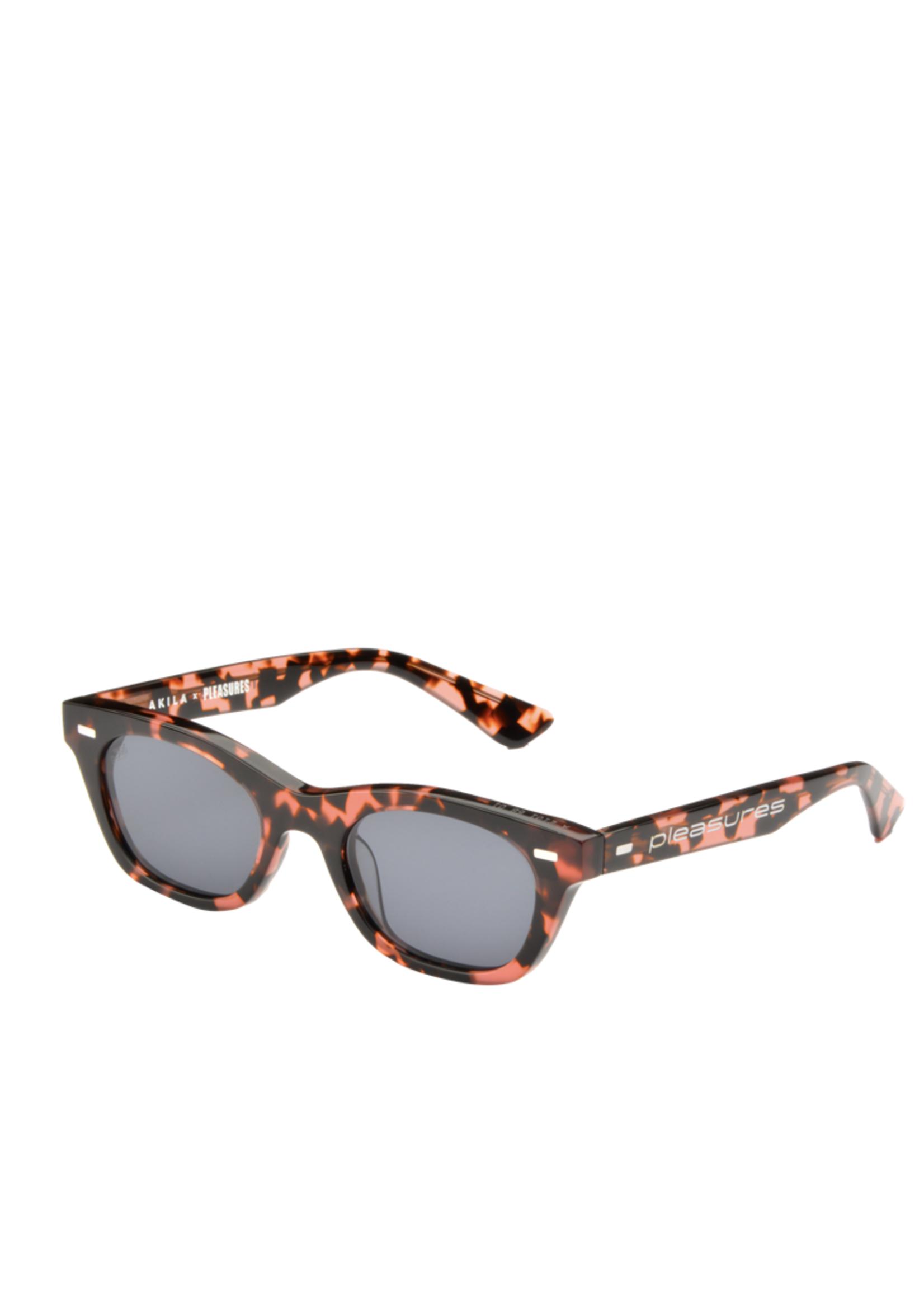 PLEASURES AKILA X PLEASURES Method Sunglasses in Pink Tortoise