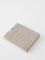 TEKLA Organic Bath Towel in Brown Stripe