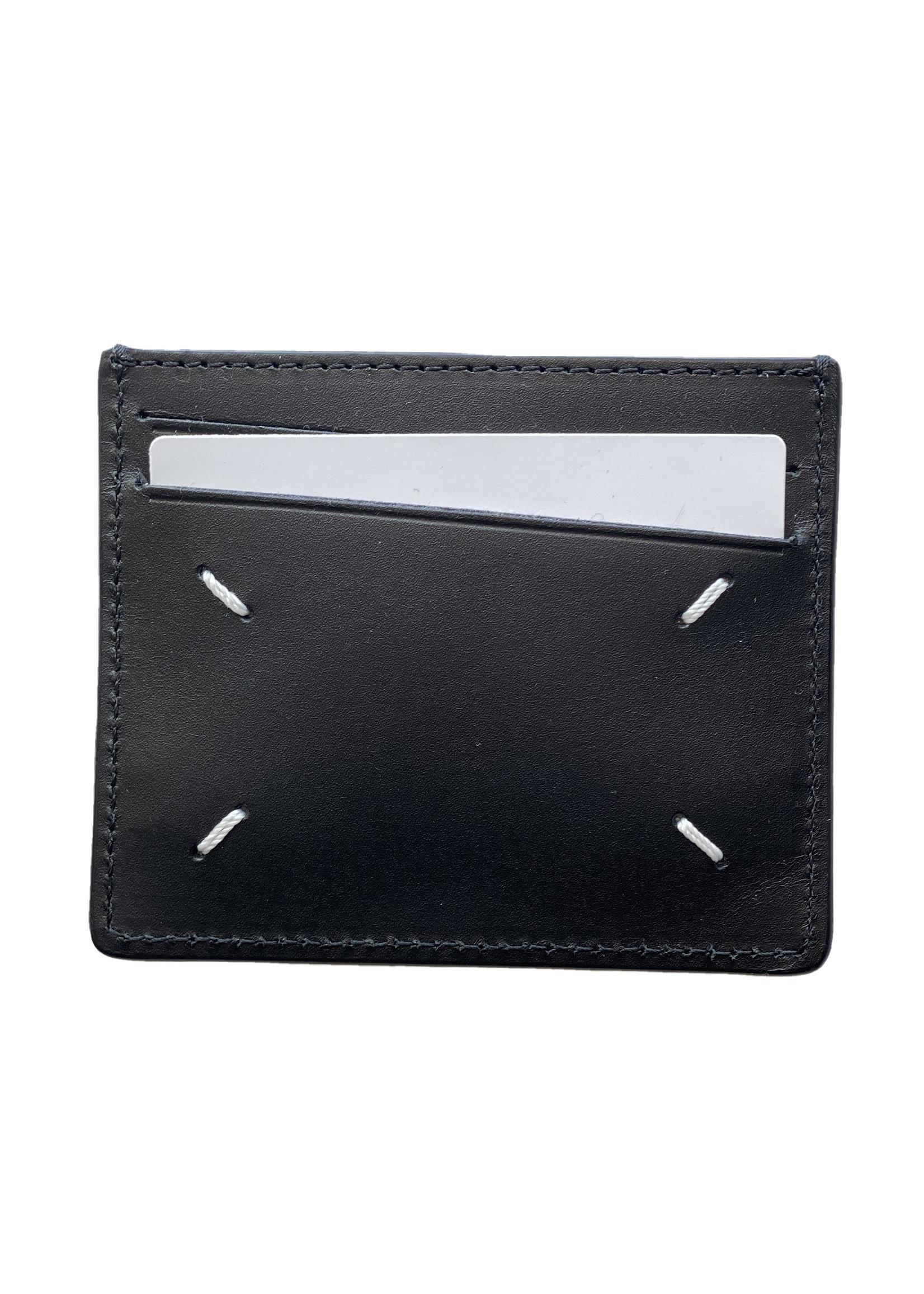Maison Margiela 1/2 Textured Cardholder in Black