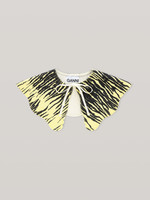 GANNI Denim Detached Collar in Yellow Print