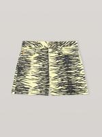 GANNI High Waist Yellow Print Denim Shorts