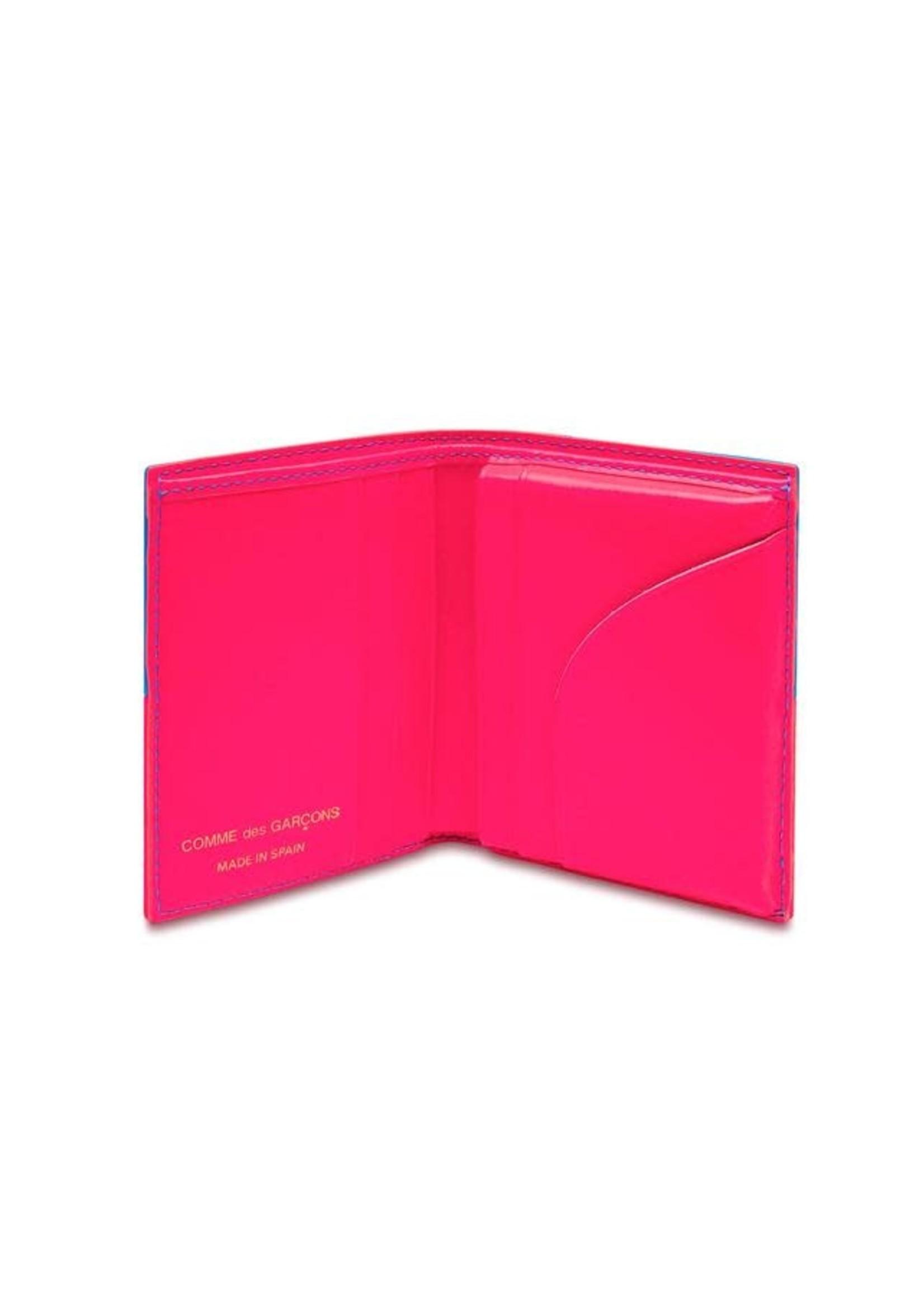 COMME des GARÇONS WALLET Neon Checkerboard Bifold Wallet