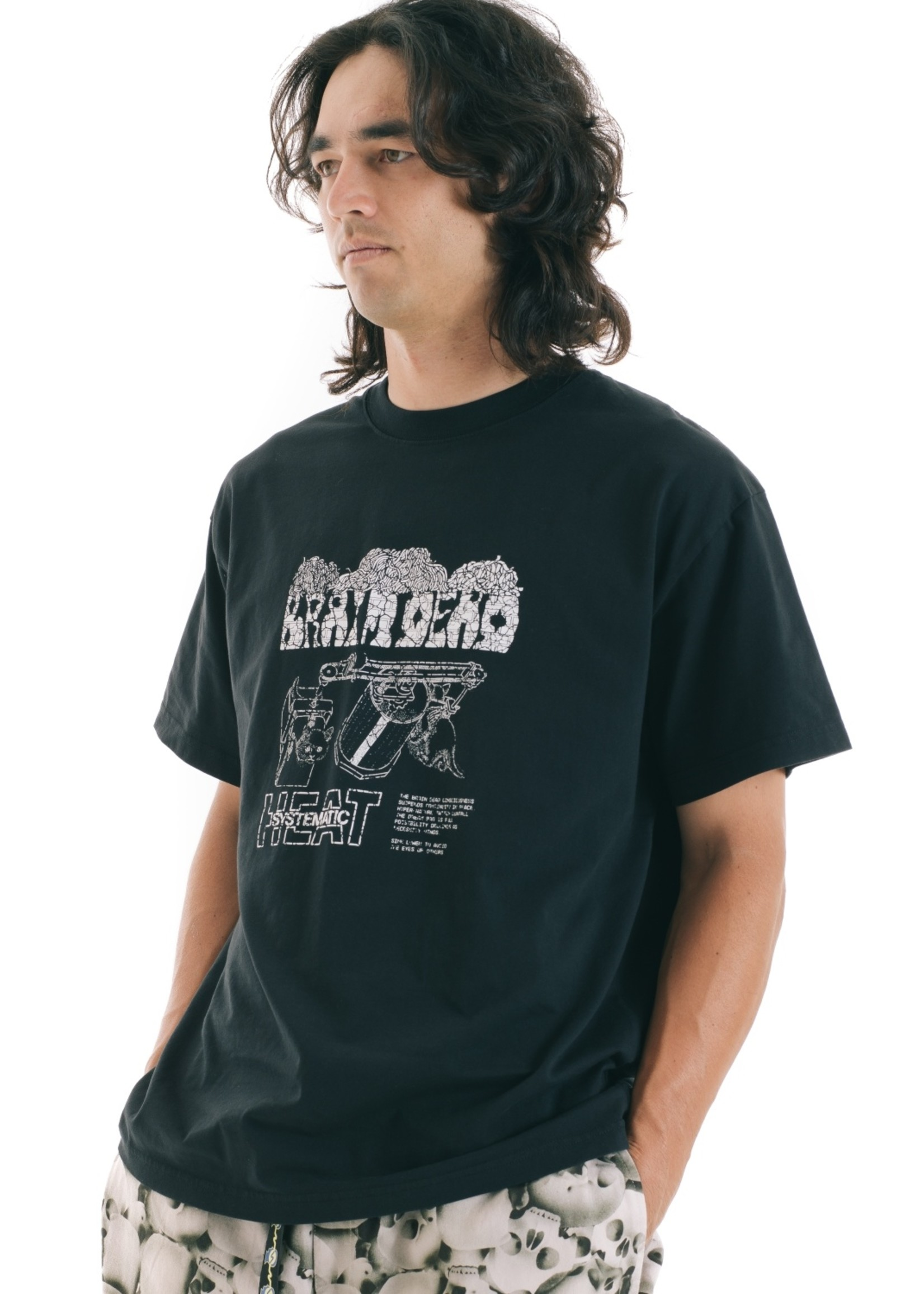 Brain Dead Consciousness T-shirt in washed Black