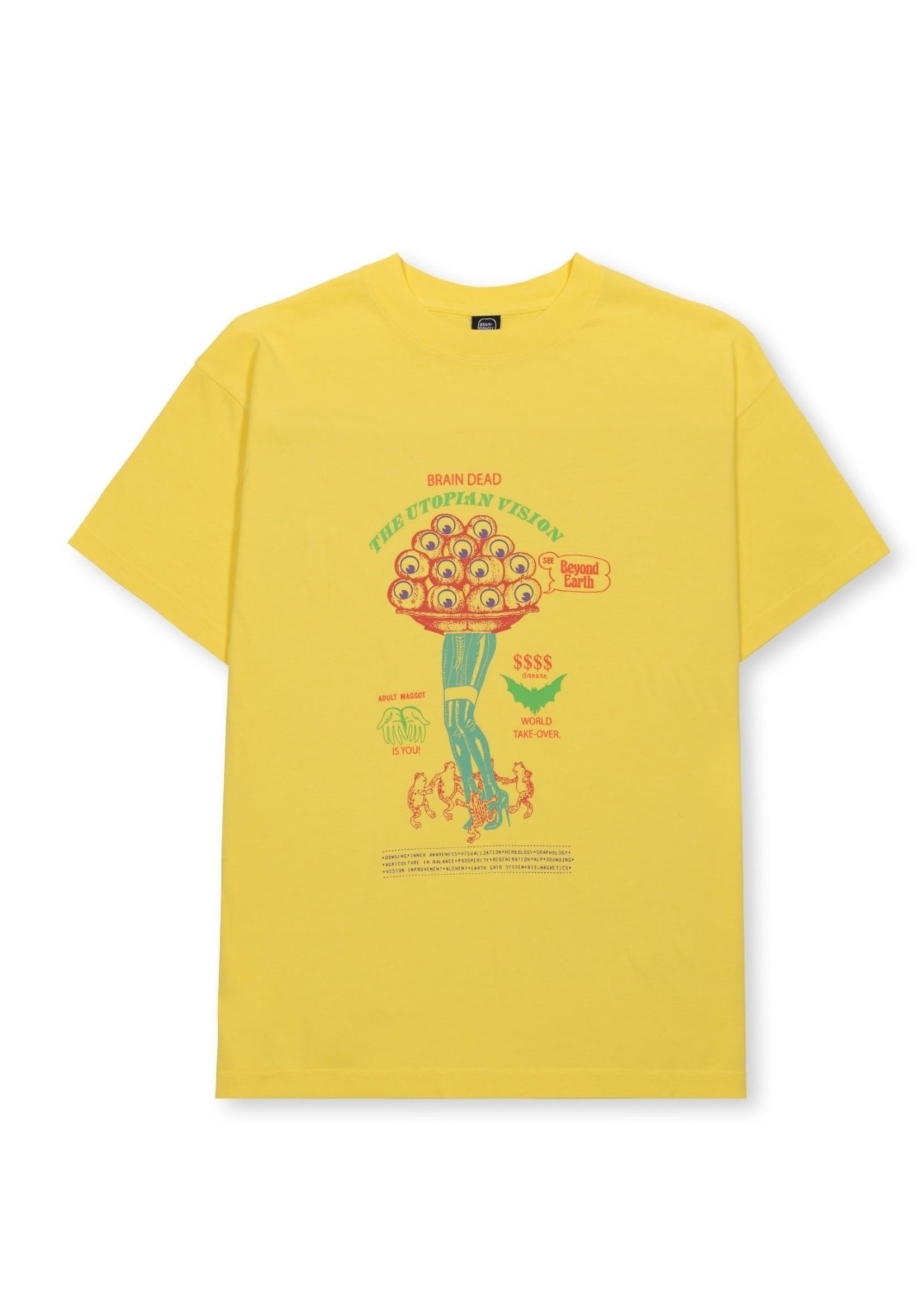 Brain Dead Beyond Earth T-shirt in Lemon