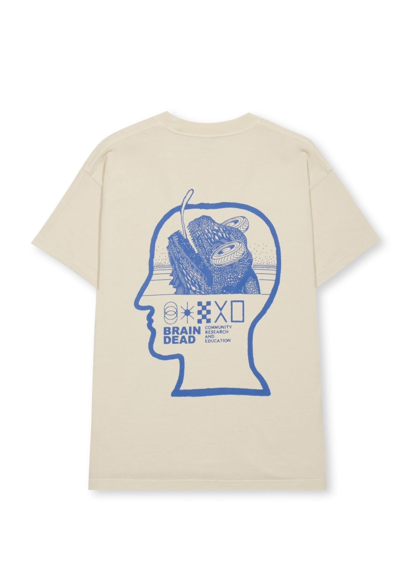 Brain Dead Community, Research, Education T-shirt in Sand