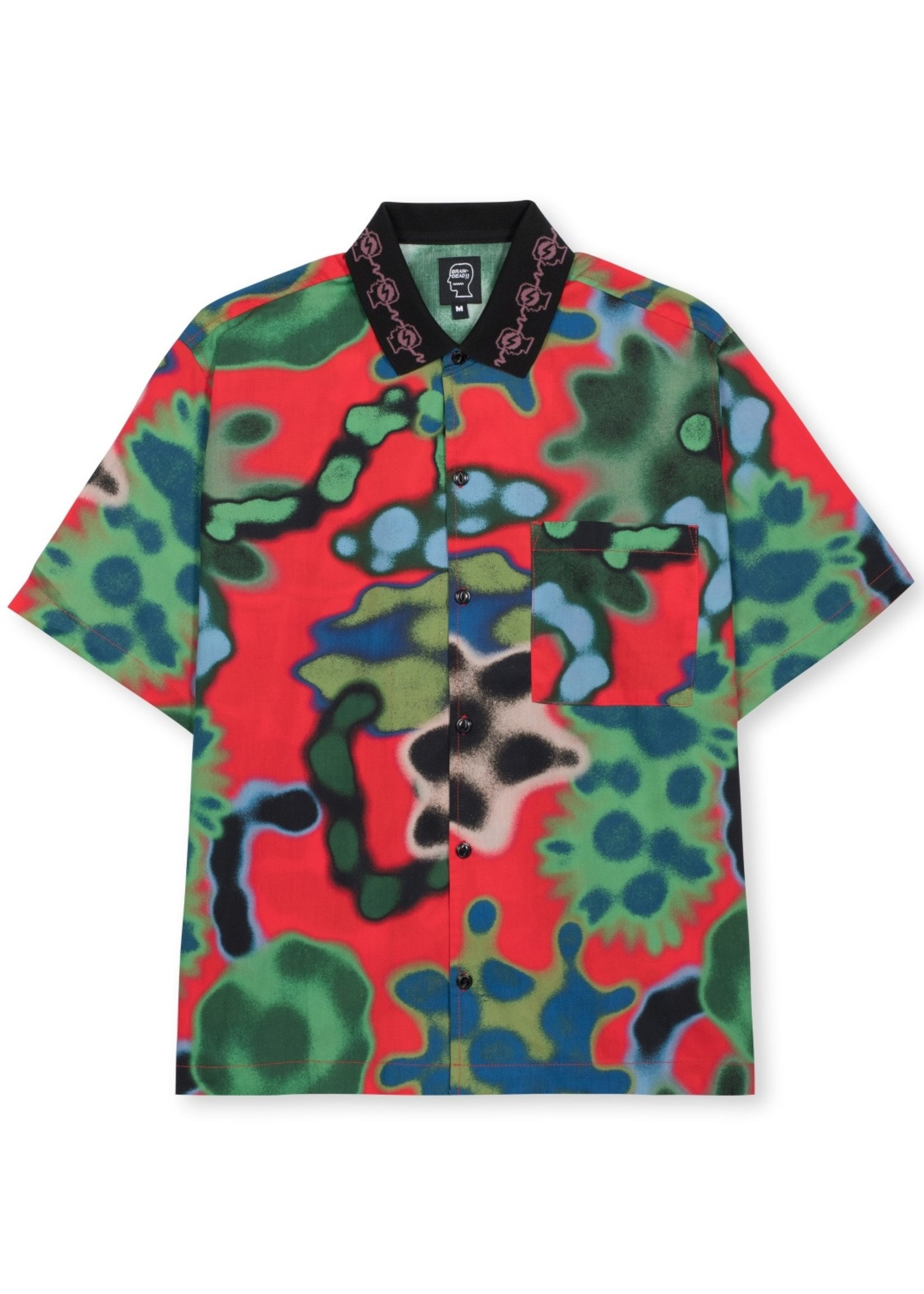 Brain Dead Amoeba Watercolor Print Button Down Shirt