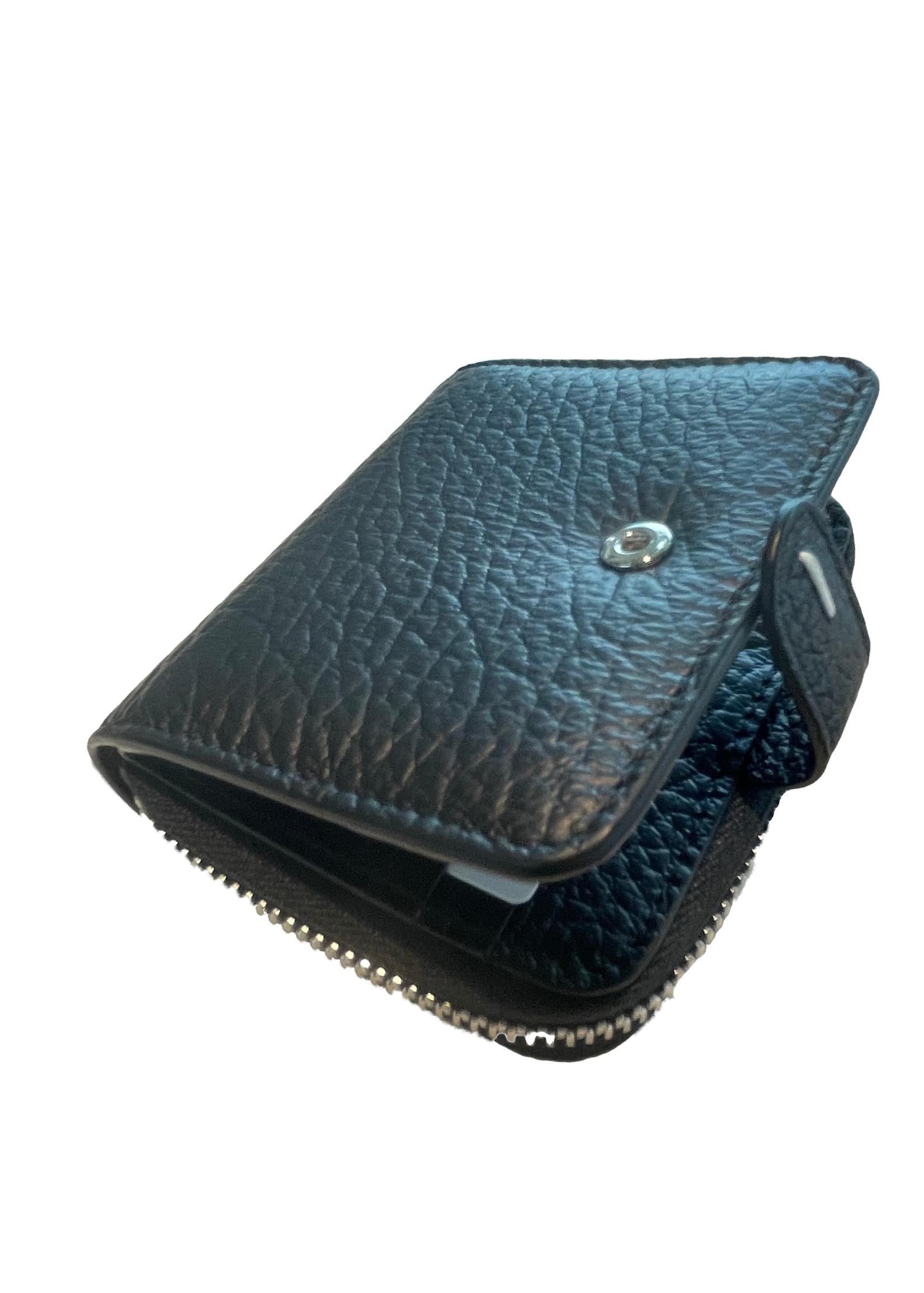 Maison Margiela Full Zip Wallet in Black