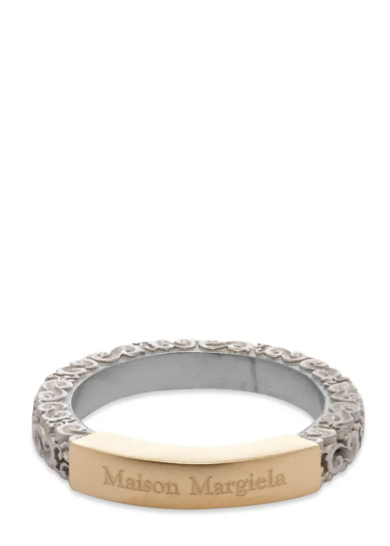 Maison Margiela Logo ring in Silver and Gold