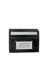 Maison Margiela Split Cardholder in Black Patent Leather