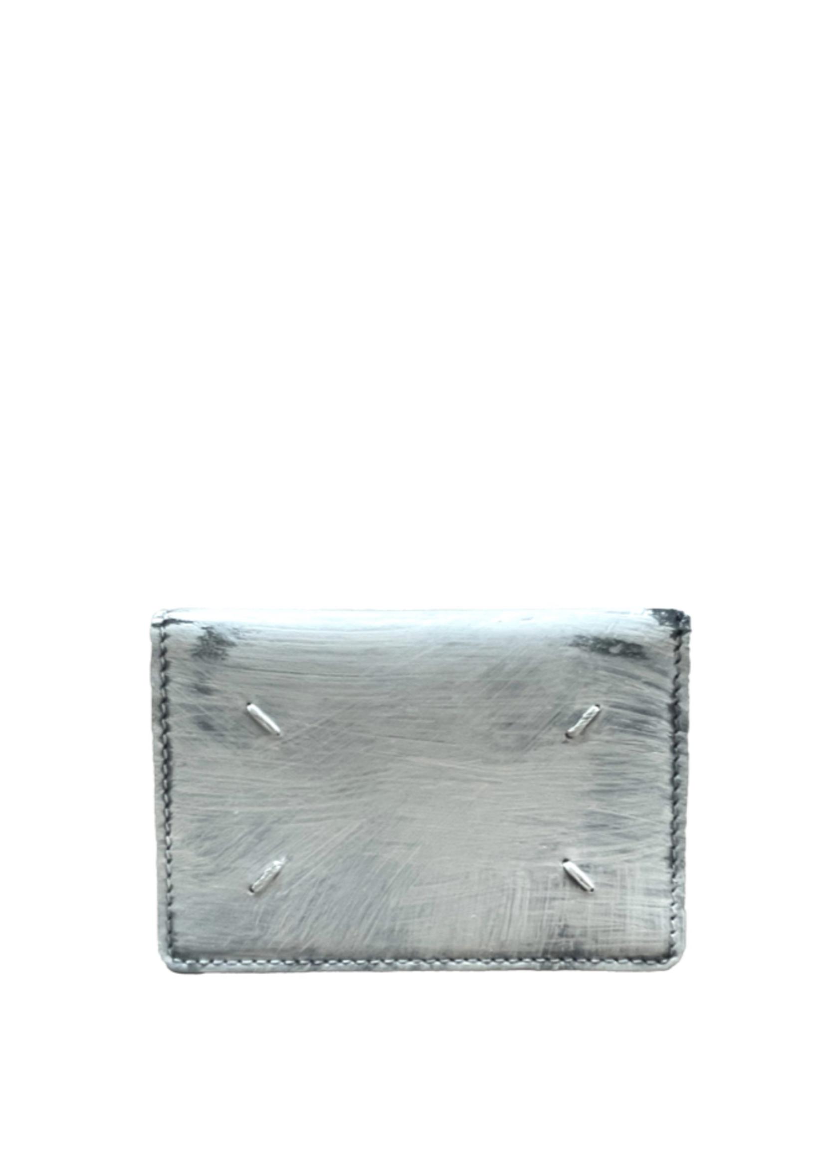 Maison Margiela Black Card Holder with White Paint