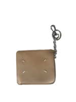 Maison Margiela ZIP WALLET WITH KEYCHAIN IN Nude AND Silver