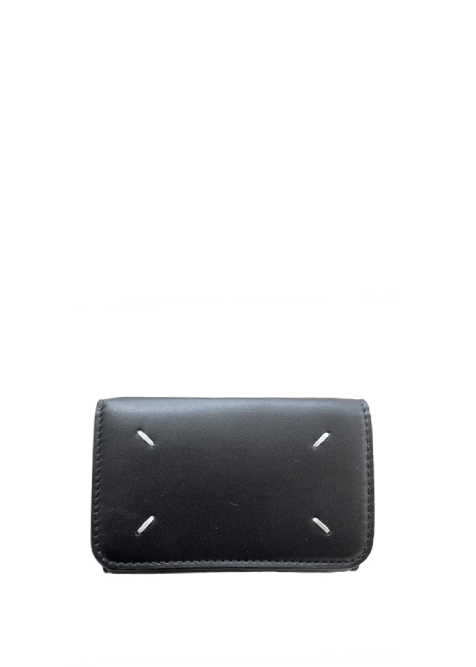 Maison Margiela Small Folding Snap Wallet in Black