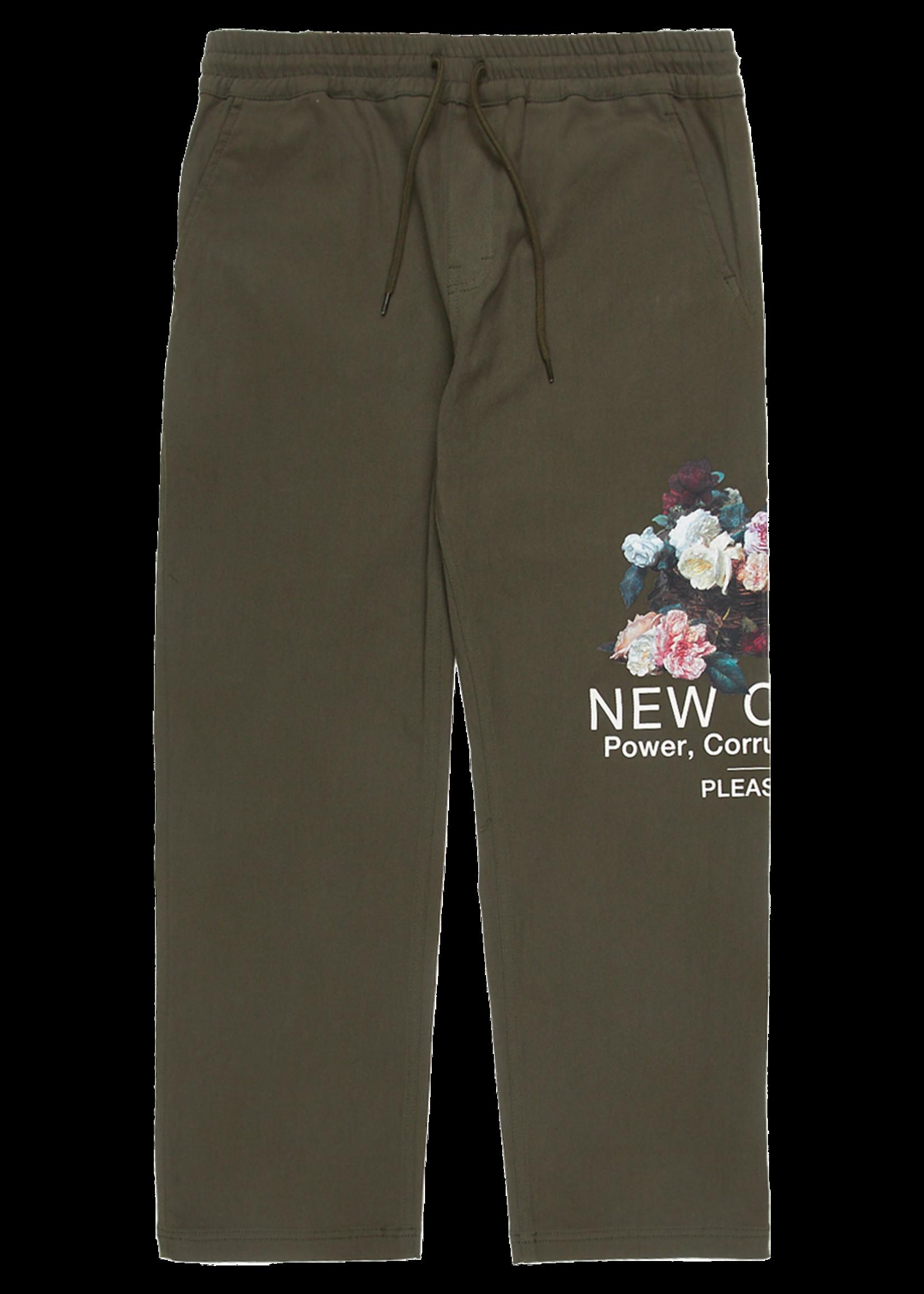 PLEASURES New Order Power Pants in Olive