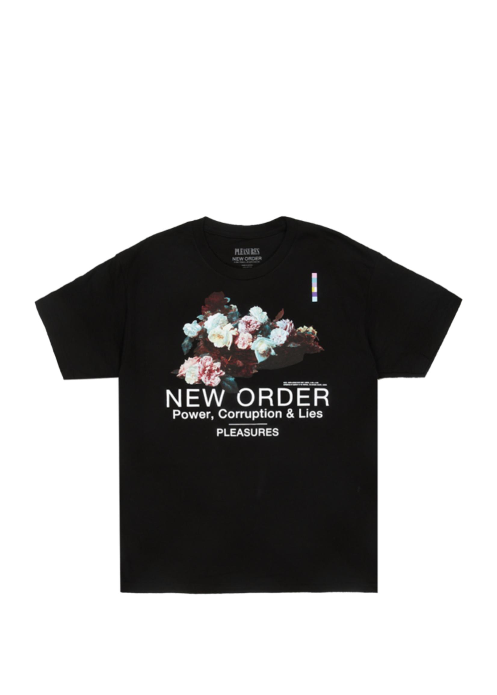 PLEASURES New Order Power T-shirt in Black