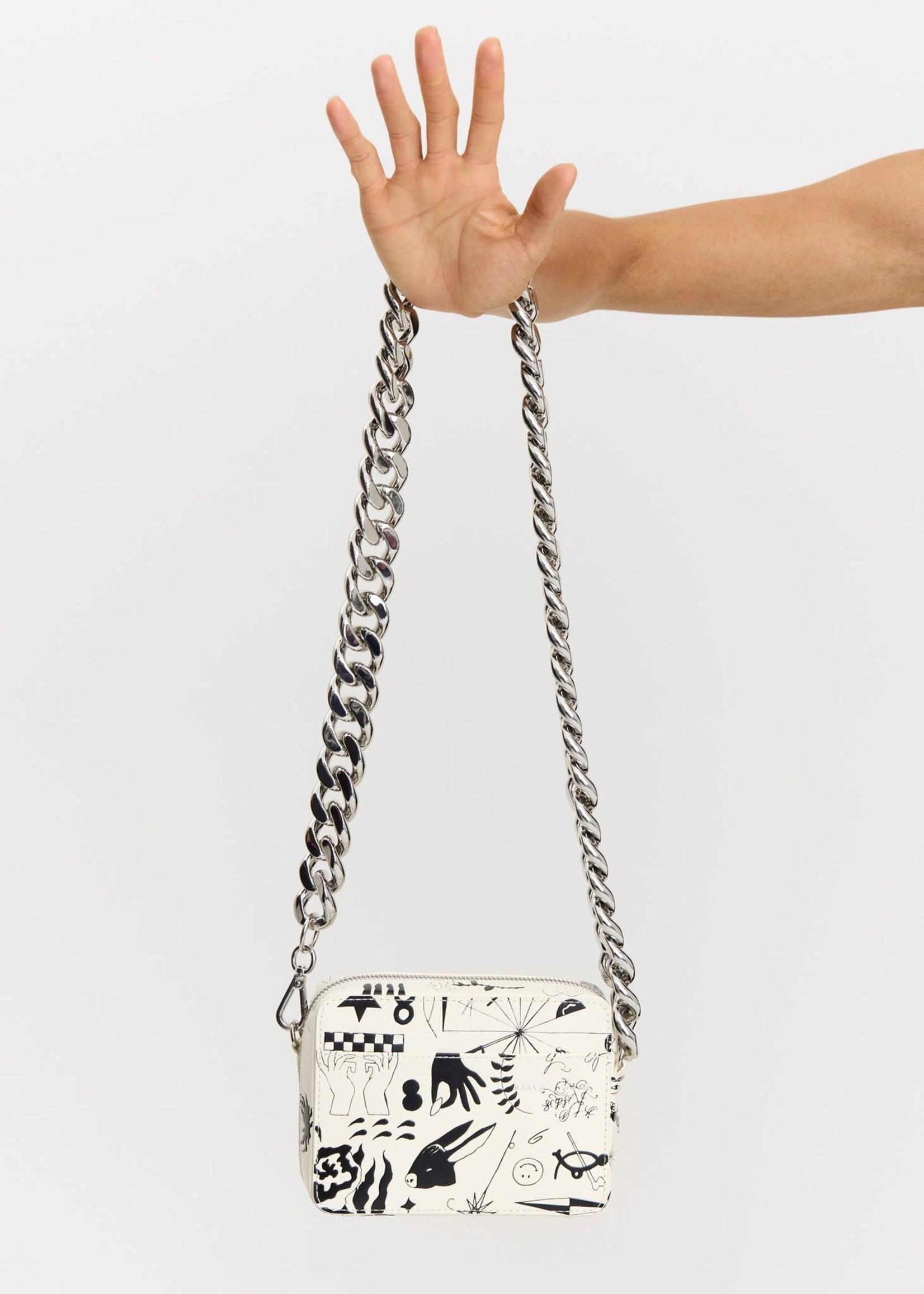 KARA Camera Bag in black and white Print