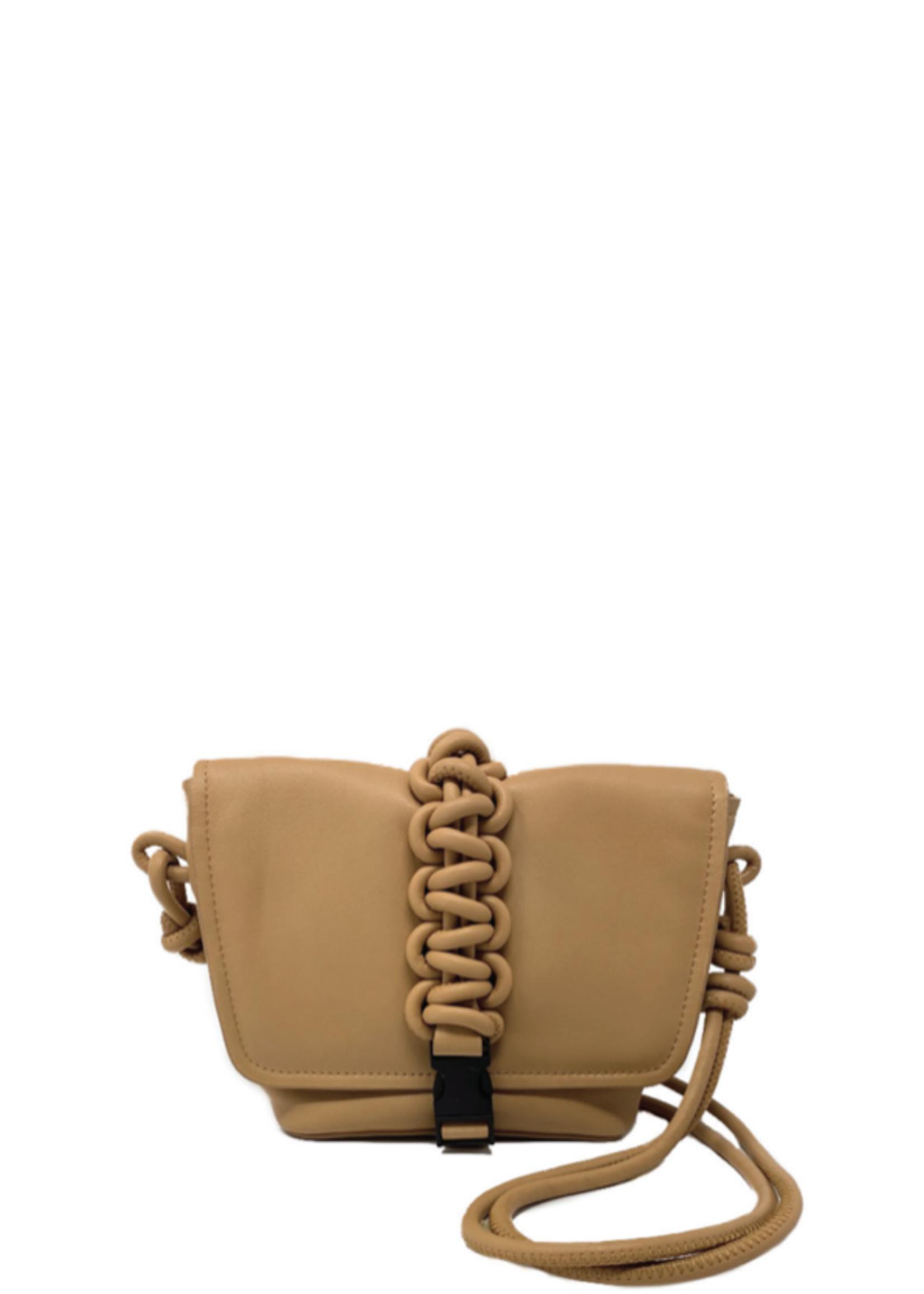 KARA Mini Switch Bag in Honey Brown