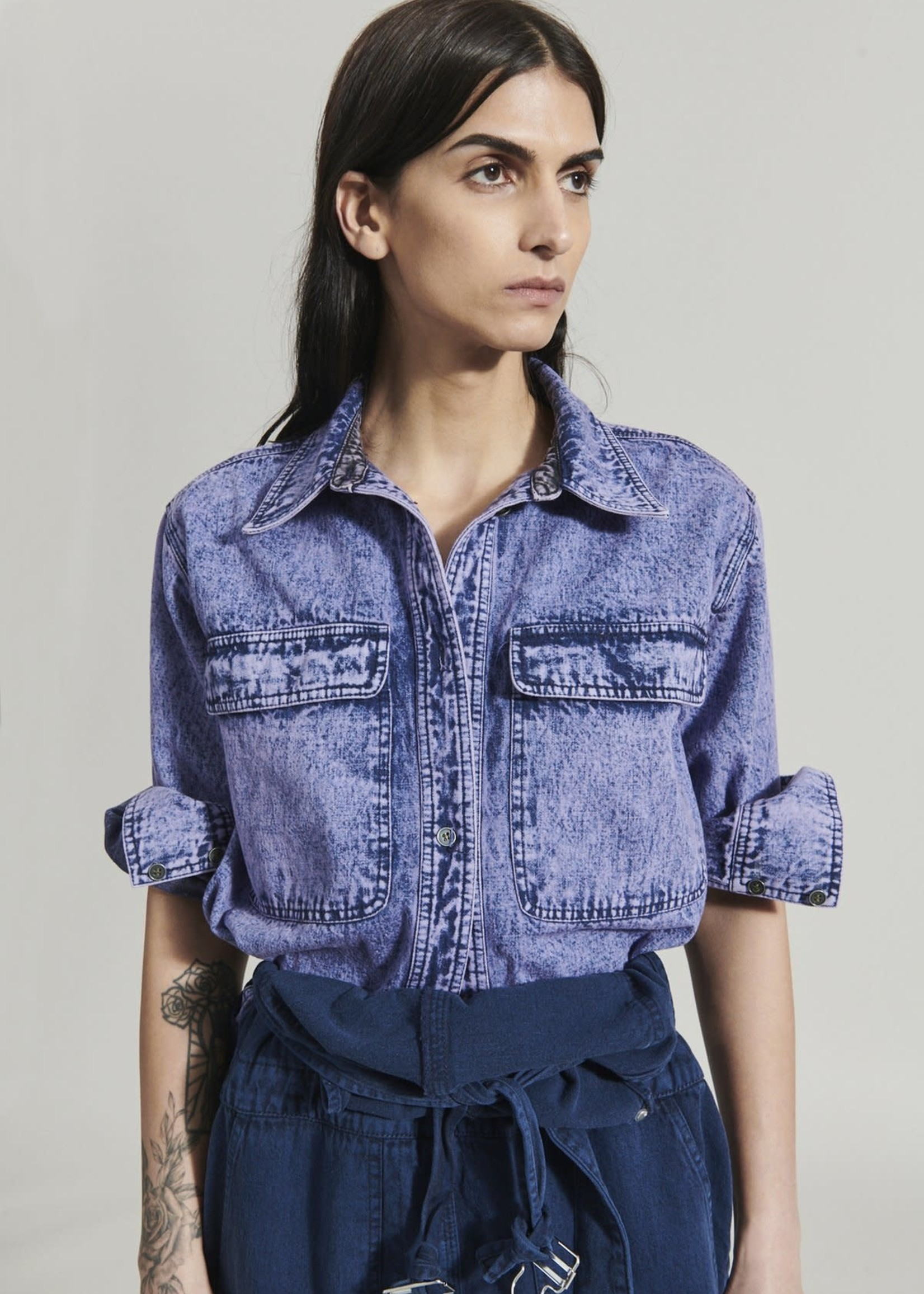 Rachel Comey Supply Shirt in Lavender Acid Wash