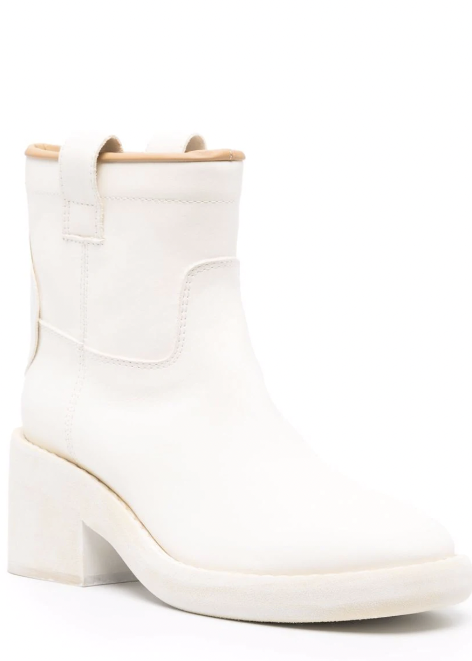 MM6 MAISON MARGIELA Biker Boot in White Painted Leather