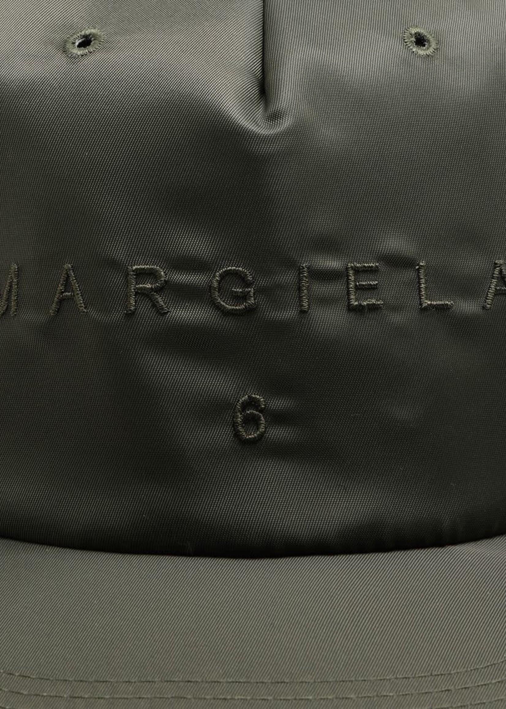 MM6 MAISON MARGIELA Nylon Logo Ball Cap in Military Green