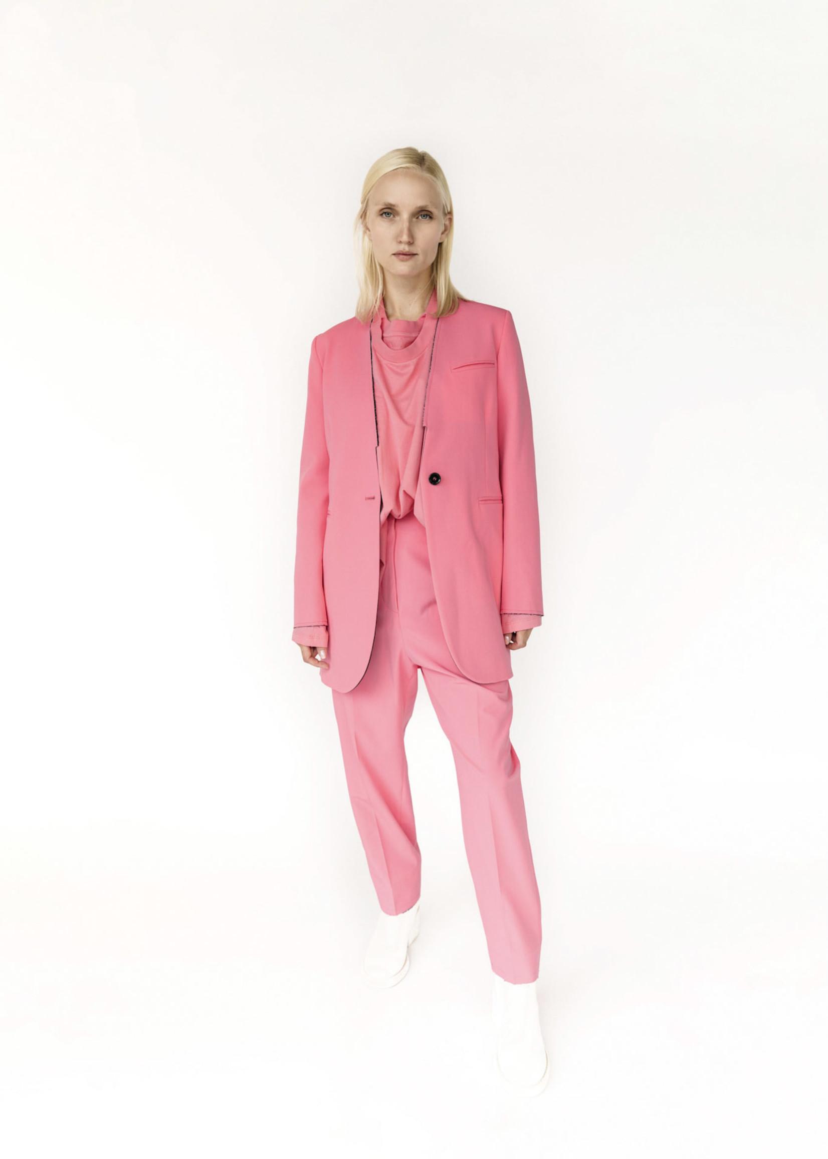 MM6 MAISON MARGIELA Neon Pink Raw Edge Trouser
