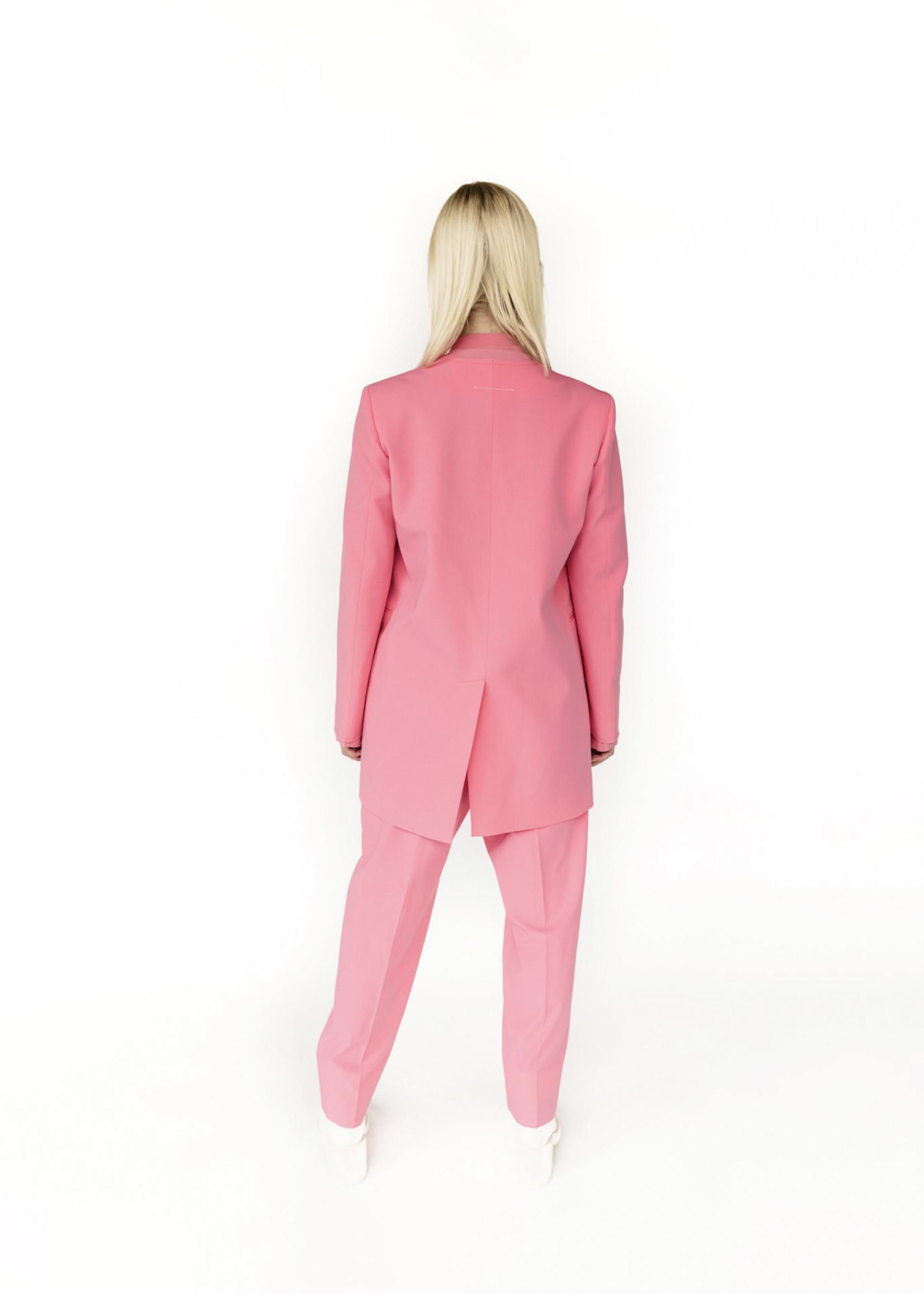 MM6 MAISON MARGIELA Neon Pink Collarless Blazer