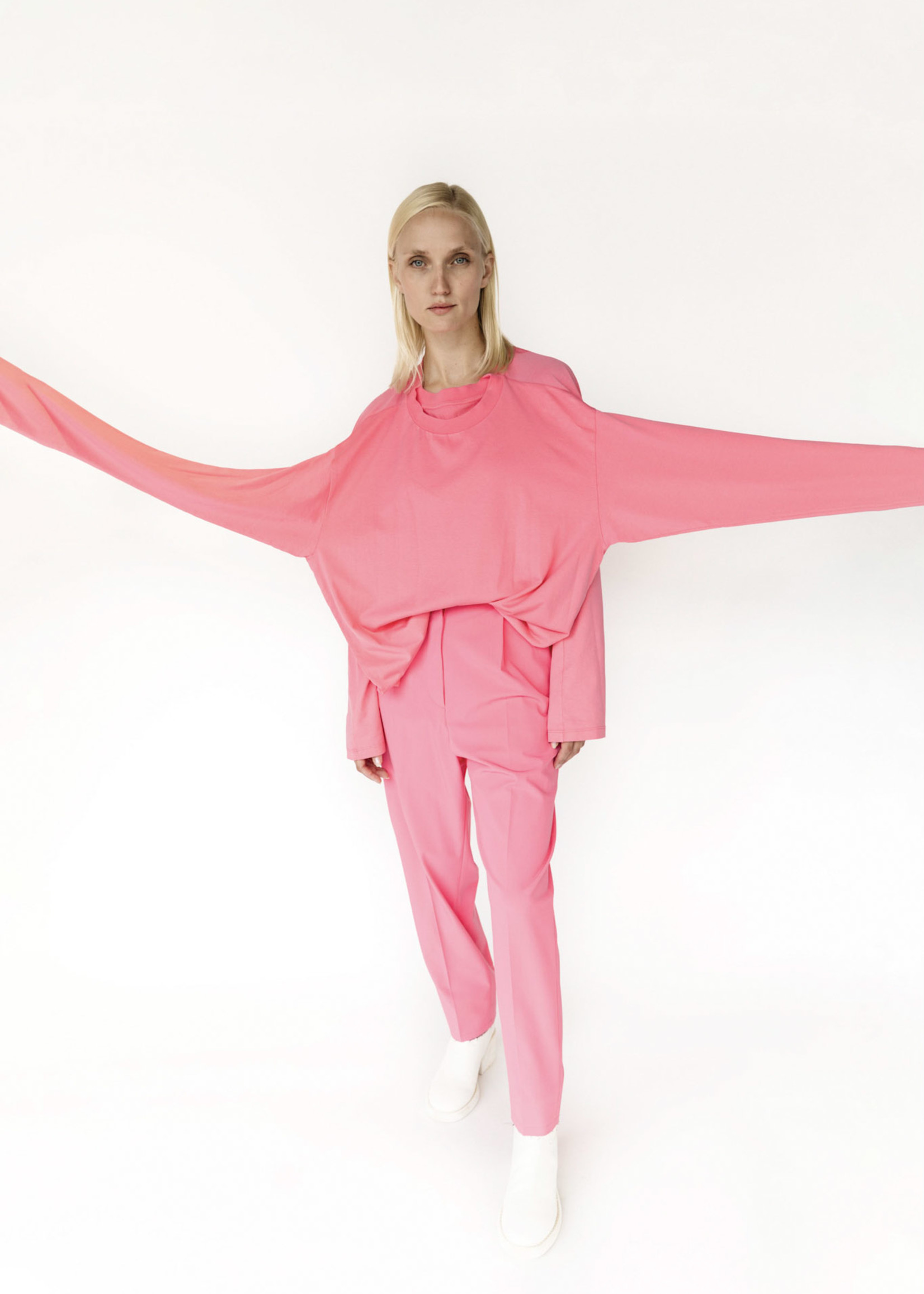 MM6 MAISON MARGIELA Neon Pink Double T-shirt
