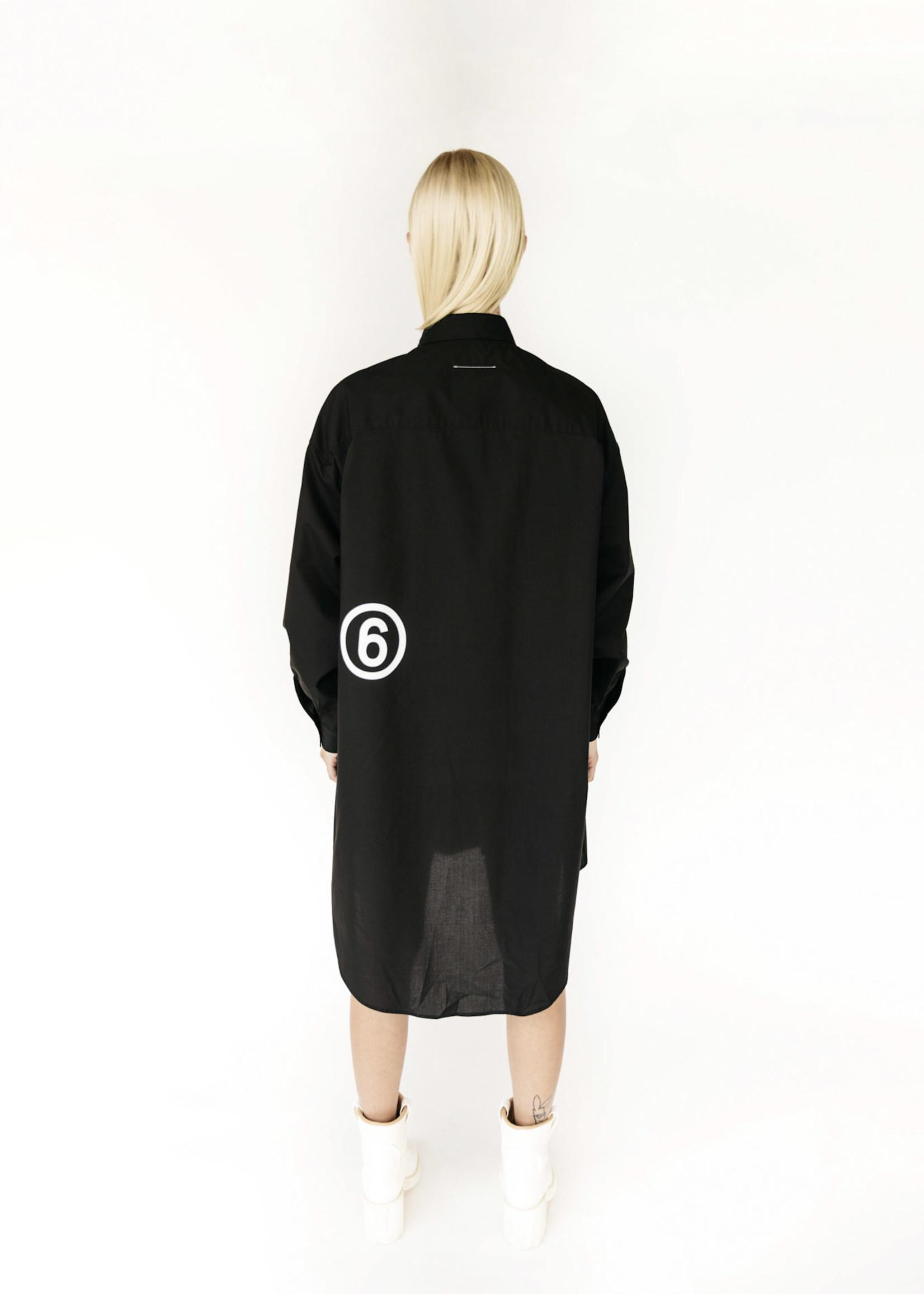MM6 MAISON MARGIELA Eagle Logo Shirt Dress in Black
