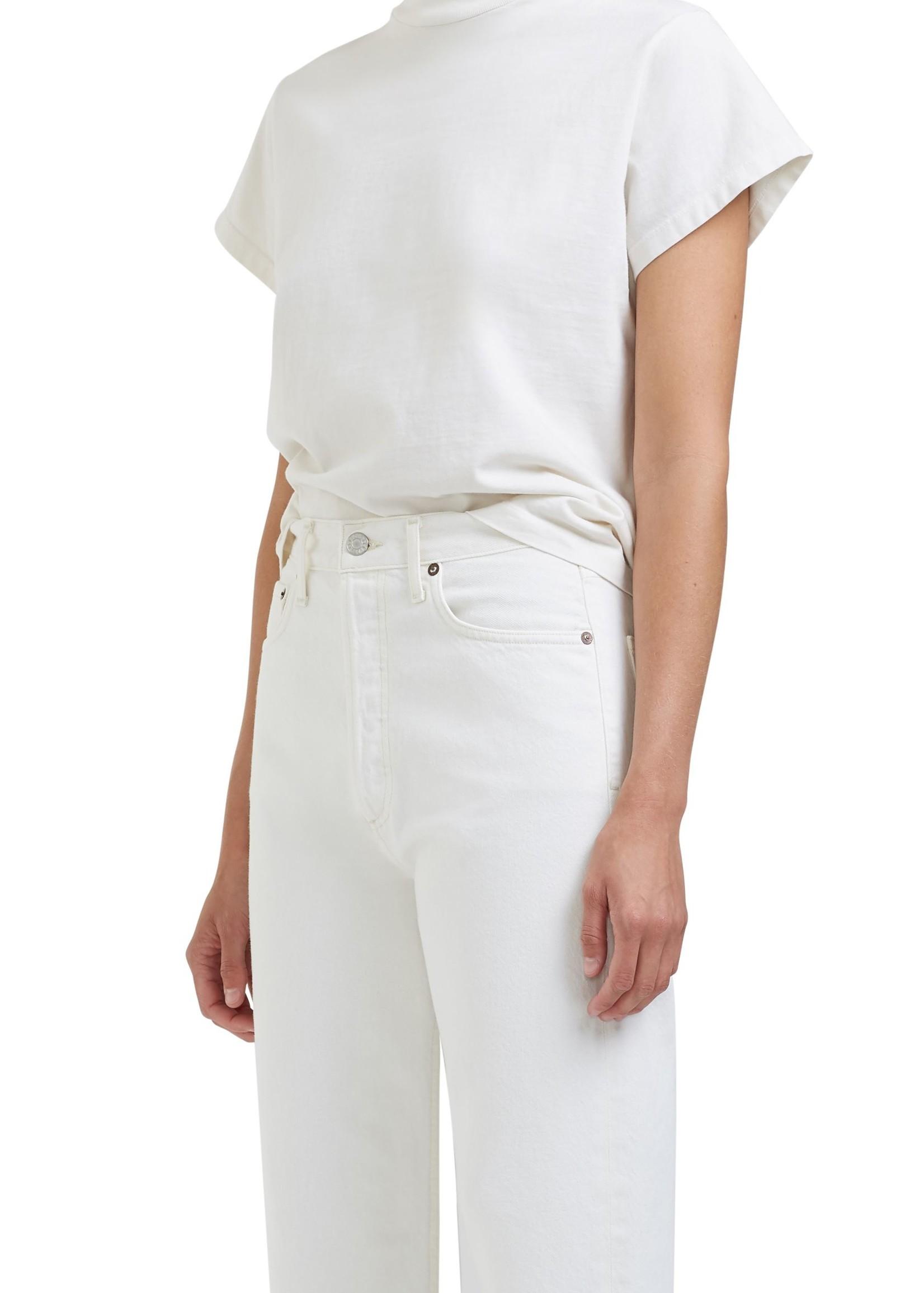 AGOLDE Anika Cap Sleeve T-shirt in White